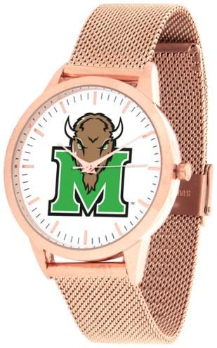 Marshall Thundering Herd Rose Mesh Statement Watch