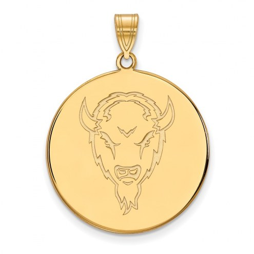 Marshall Thundering Herd Sterling Silver Gold Plated Extra Large Disc Pendant