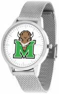 Marshall Thundering Herd Silver Mesh Statement Watch