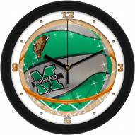 Marshall Thundering Herd Slam Dunk Wall Clock