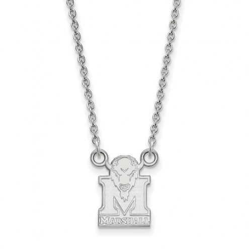 Marshall Thundering Herd Sterling Silver Small Pendant Necklace