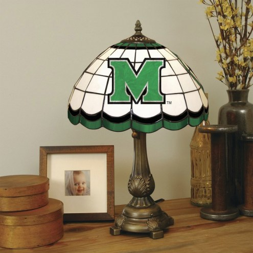 Marshall Thundering Herd Stained Glass Tiffany Table Lamp