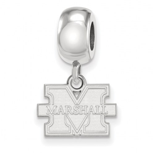 Marshall Thundering Herd Sterling Silver Extra Small Dangle Bead Charm
