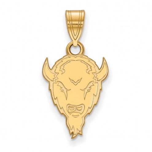 Marshall Thundering Herd Sterling Silver Gold Plated Medium Pendant