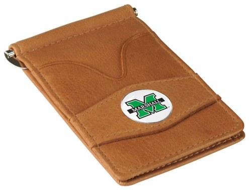 Marshall Thundering Herd Tan Player's Wallet