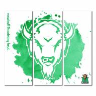 Marshall Thundering Herd Triptych Watercolor Canvas Wall Art