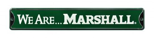 Marshall Thundering Herd We Are Street Sign