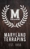 "Maryland Terrapins 11"" x 19"" Laurel Wreath Sign"