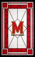 """Maryland Terrapins 11"""" x 19"""" Stained Glass Sign"""