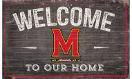 """Maryland Terrapins 11"""" x 19"""" Welcome to Our Home Sign"""