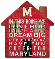 """Maryland Terrapins 12"""" House Sign"""