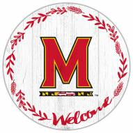 """Maryland Terrapins 12"""" Welcome Circle Sign"""