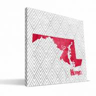 "Maryland Terrapins 12"" x 12"" Home Canvas Print"