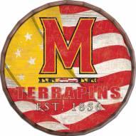 """Maryland Terrapins 16"""" Flag Barrel Top"""