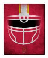 "Maryland Terrapins 16"" x 20"" Ghost Helmet Canvas Print"