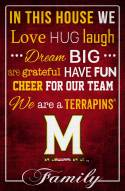 """Maryland Terrapins 17"""" x 26"""" In This House Sign"""