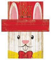 """Maryland Terrapins 19"""" x 16"""" Easter Bunny Head"""