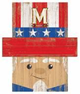 """Maryland Terrapins 19"""" x 16"""" Patriotic Head"""