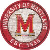 "Maryland Terrapins 24"" Heritage Logo Round Sign"