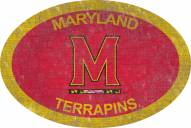"""Maryland Terrapins 46"""" Team Color Oval Sign"""
