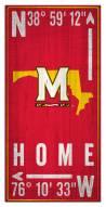 "Maryland Terrapins 6"" x 12"" Coordinates Sign"