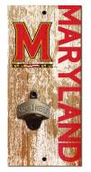 "Maryland Terrapins 6"" x 12"" Distressed Bottle Opener"
