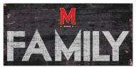 """Maryland Terrapins 6"""" x 12"""" Family Sign"""