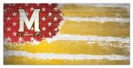 "Maryland Terrapins 6"" x 12"" Flag Sign"