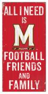"""Maryland Terrapins 6"""" x 12"""" Friends & Family Sign"""