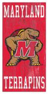 "Maryland Terrapins 6"" x 12"" Heritage Logo Sign"