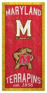 """Maryland Terrapins 6"""" x 12"""" Heritage Sign"""