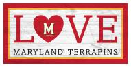 """Maryland Terrapins 6"""" x 12"""" Love Sign"""