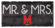 "Maryland Terrapins 6"" x 12"" Mr. & Mrs. Sign"