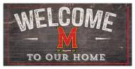"""Maryland Terrapins 6"""" x 12"""" Welcome Sign"""