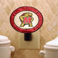 Maryland Terrapins Art Glass Night Light