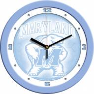 Maryland Terrapins Baby Blue Wall Clock
