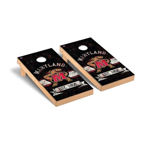 Maryland Terrapins Banner Vintage Cornhole Game Set