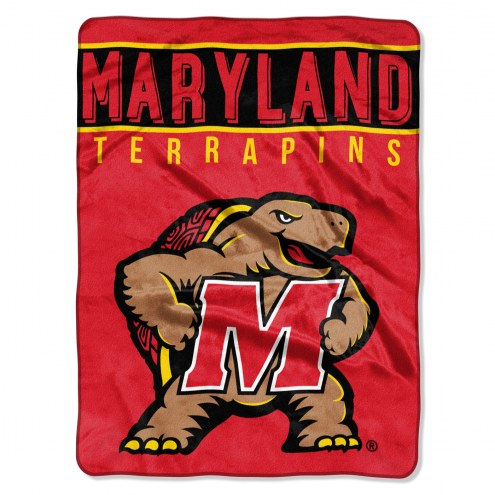 Maryland Terrapins Basic Plush Raschel Blanket