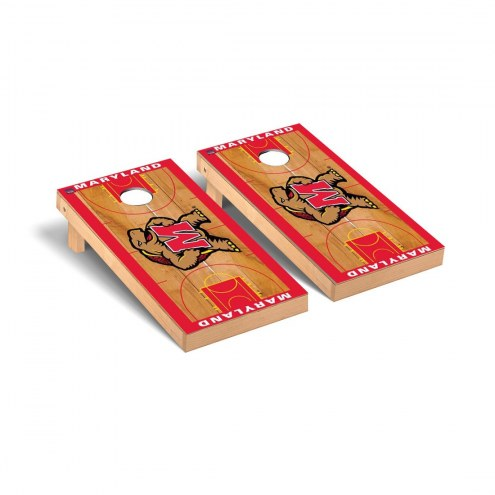 Maryland Terrapins Basketball Court Cornhole Game Set