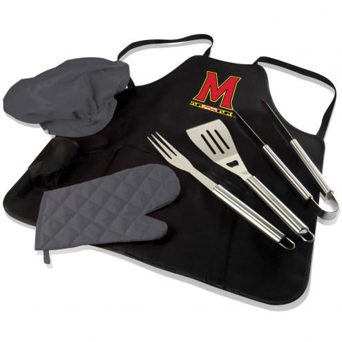 Maryland Terrapins BBQ Apron Tote Set