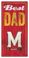 Maryland Terrapins Best Dad Sign