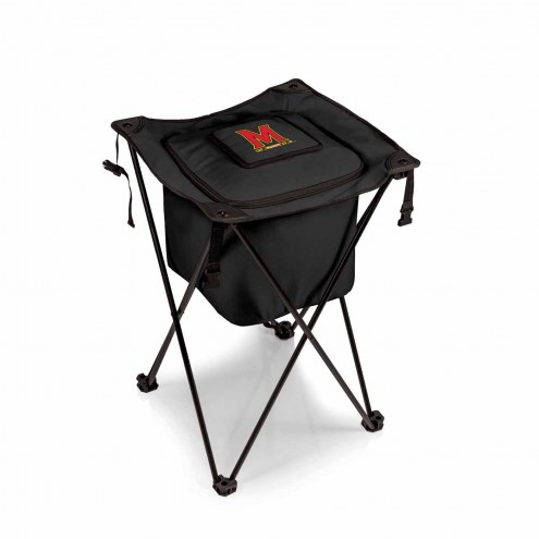 Maryland Terrapins Black Sidekick Portable Cooler