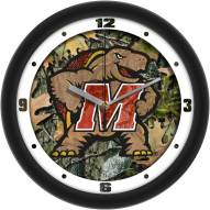 Maryland Terrapins Camo Wall Clock
