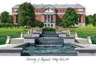 Maryland Terrapins Campus Images Lithograph