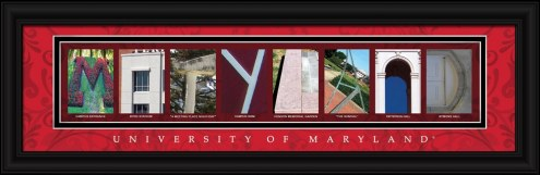 Maryland Terrapins Campus Letter Art