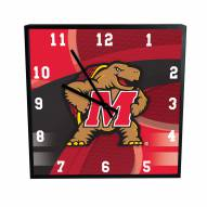 Maryland Terrapins Carbon Fiber Square Clock