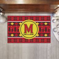 Maryland Terrapins Christmas Sweater Starter Rug