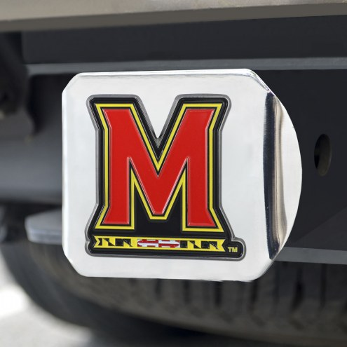 Maryland Terrapins Chrome Color Hitch Cover