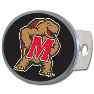 Maryland Terrapins Class II and III Oval Metal Hitch Cover
