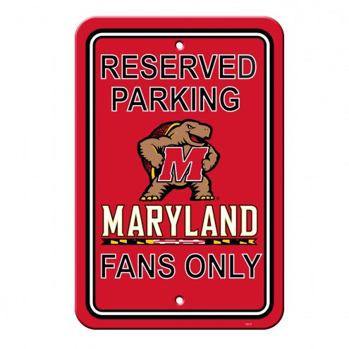 Maryland Terrapins College Parking Sign